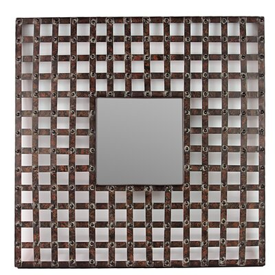 Square Shaped Metal Wall Mirror