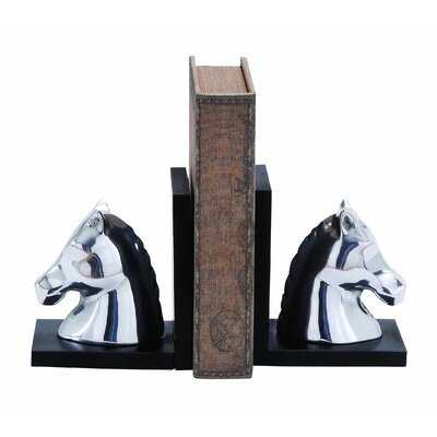 Woodland Imports Contemporary Horse Book End (Set of 2)