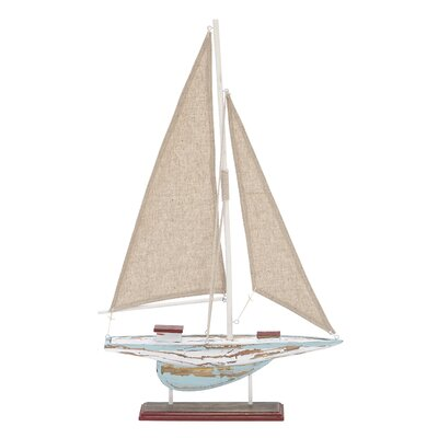 Wood Sail Boat Decor