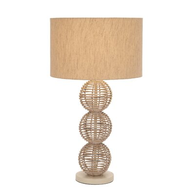 Woodland Imports Designers Metal Rattan Table Lamp