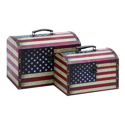 Woodland Imports American Treasure Box (Set of 2)