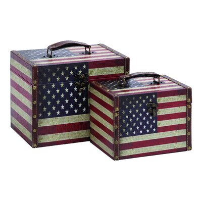 Woodland Imports American Storage Box (Set of 2)