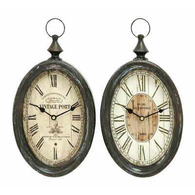 Woodland Imports Wall Clock (Set of 2)
