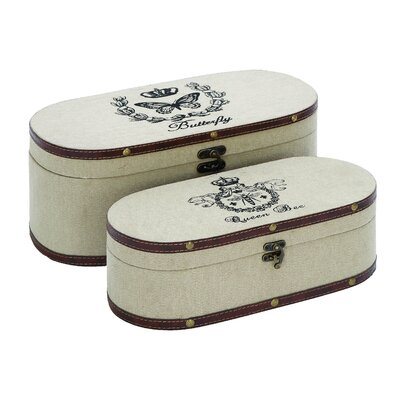 Nature Garden Themed Jewelry Box (Set of 2)