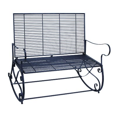 Woodland Imports Metal Rocker Bench