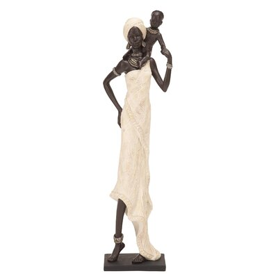 Woodland Imports Table Top Polystone African Figure Sculpture