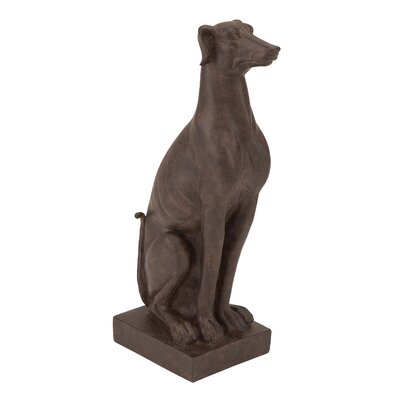 Woodland Imports Table Top Polystone Sitting Dog Statue