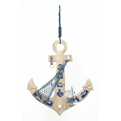 Woodland Imports Seaside Nautical Weighing Anchor Wall Décor