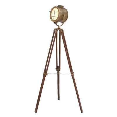 Metal Wood Glass Studio Floor Lamp Lighting | Wayfair