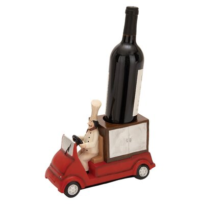 Woodland Imports Polystone Chef Truck Tabletop Wine Rack