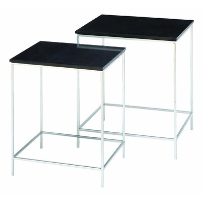 Woodland Imports 2 Piece Contempo End Table