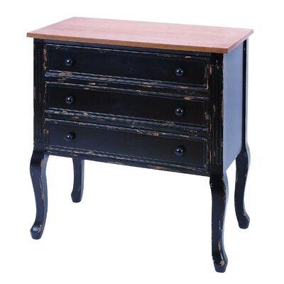 Woodland Imports 3 Drawers Dresser