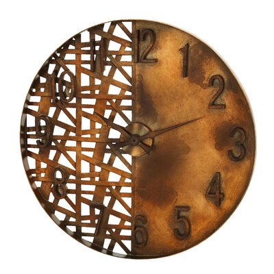 Woodland Imports Night and Day Wall Clock