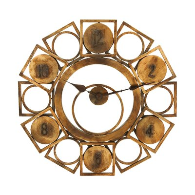 Woodland Imports Geometric Circles and Squares Wall Clock