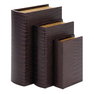 3 Piece Leather Book Box Set
