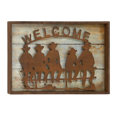 Woodland Imports Unique Wood Metal Wall Decor