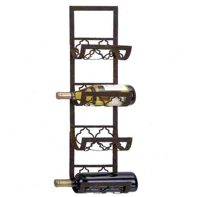 Woodland Imports 4 Bottle Wall Mounted Wine Rack