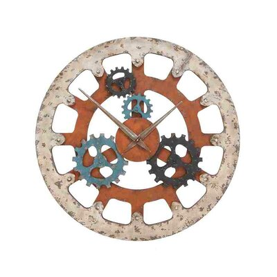 Woodland Imports Wood Clock