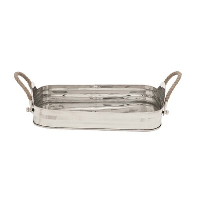 Woodland Imports Rope Rectangular Serving Tray
