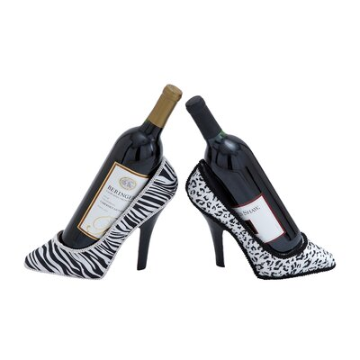 2 Bottle Tabletop Shoe Wine Holder