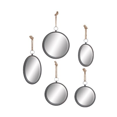 5 Piece Round Wall Mirror Set