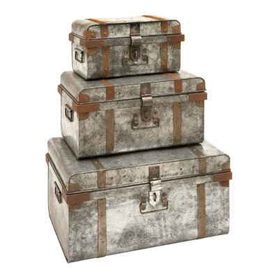 Woodland Imports Trunks (Set of 3)