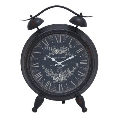 Table Clock with Roman Numerals