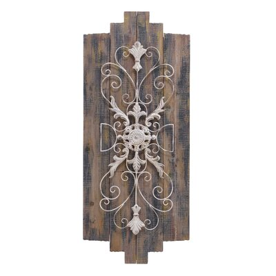 Wood Metal Plaque Wall Decor