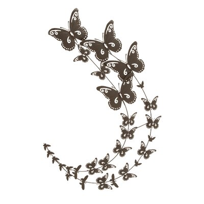 Woodland Imports Metal Butterfly Wall Decor