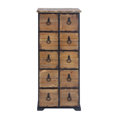 Woodland Imports 10 Drawer Chest