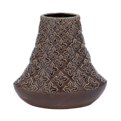 Woodland Imports Crackled Bell Shaped Vase