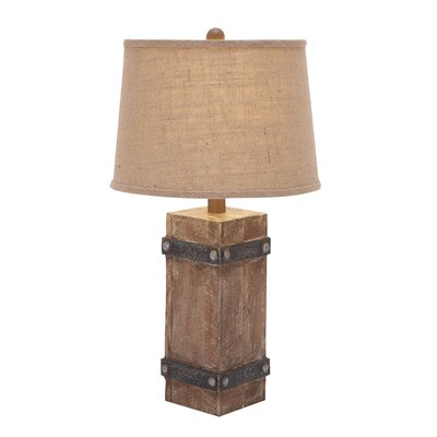 "Woodland Imports Classy 26"" H Table Lamp with Empire Shade"