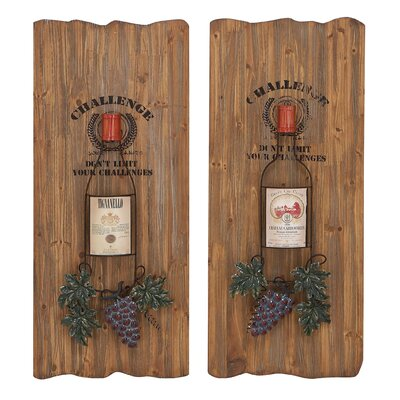 Woodland Imports 2 Piece Unique Wall D Cor Set
