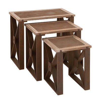 Woodland Imports 3 Piece Nesting Tables