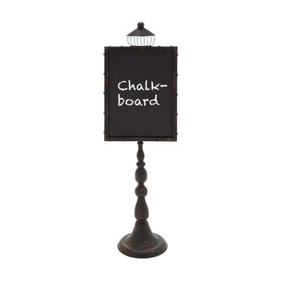 Woodland Imports Street Lamp Shaped Metal Wood Blackboard