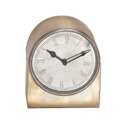 Round Face Metal Retro Table Clock