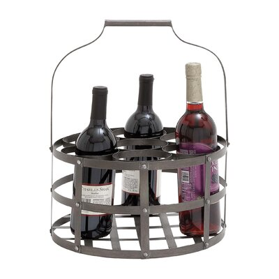 Woodland Imports 7 Bottle Hanging Wine Rack
