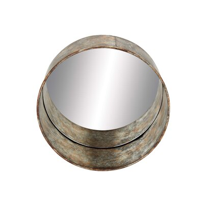 Rustic Metal Wall Mirror