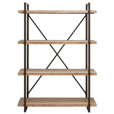 Woodland Imports Classic Metal and Wood Shelf