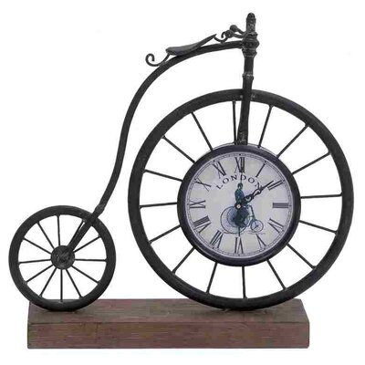 Metal Wood Bike Clock