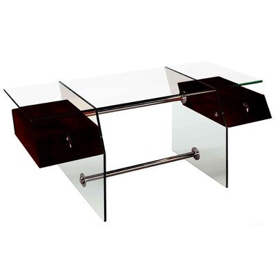 Sharelle Furnishings Vitra Glass Desk
