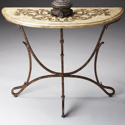 Metalworks Demilune Console Table