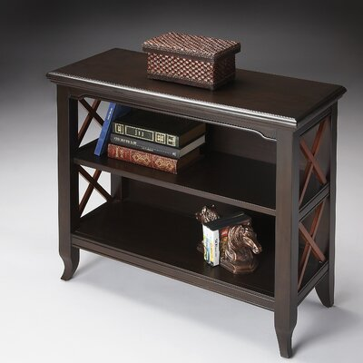 Butler Loft Low Bookcase in Distressed Transitional Cherry