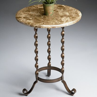 Metalworks Marble Top End Table
