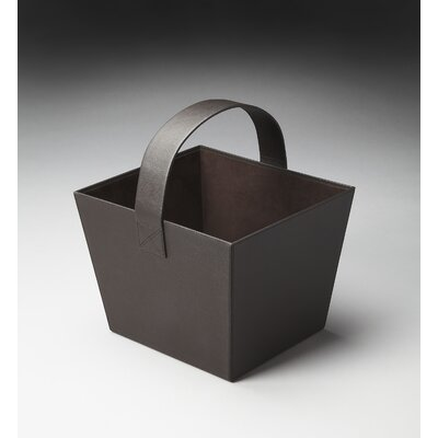 Butler Hors D'oeuvres Lido Leather Magazine Basket