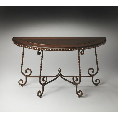 Metalworks Nottingham Demilune Console Table