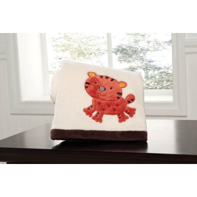 Animal Parade Embroidered Boa Blanket