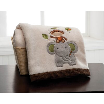 Jungle Walk Embroidered Boa Blanket