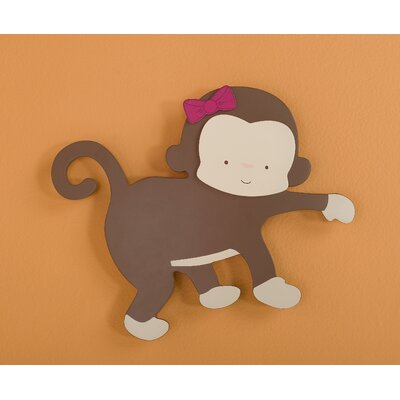 Kids Line Miss Monkey Wall Art-3D