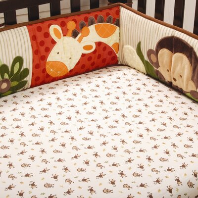 Kids Line Jungle 123 Fitted Sheet